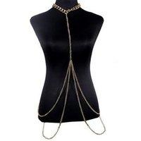 Wholesale China Hot Bikini - M206 EU US AU Hot Golden BODY CHAIN NECKLACE Vintage Necklaces for women!Beach BIKINI fashion lady body chains Highlights body chain