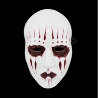 Masques Blancs Effrayants Pas Cher-Nouveaux Slipknot Joey Masques Cosplay Effrayant Blanc Slipknot Masque Adulte Costume Party Masquerade Halloween Props Mask WA1373