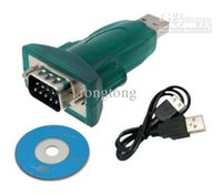 Wholesale Usb Serial Rs232 Adapter - 200 sets lot USB to RS232 Serial 9 Pin Cable Adapter PC PDA RS-232 usb to 9pin cable adapter USB to 9P