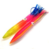 Wholesale big fishing soft lure for sale - 7 inch Big Sea Fishing Lure Octopus Skirt Bait Sea Trolling Fishing Lure Game Tuna Lure Sea Fishing Tackle Octopus head long cm