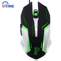 Wholesale Souris Gamer - Wholesale- DTIME USB Gaming Mouse Gamer Souris 3200DPI Game Mause Optical Wired Mice For Computer PC Laptop computador Bloody CS Raton LOL