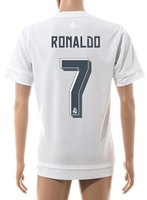 Wholesale Wholesale Dry Shirts - 7 Ronaldo 2016 Champions League Final Home White Soccer Jersey ,Customized Soccer Shirts Football Top