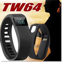 contadores de calorías ver al por mayor-TW64 Reloj Smart Watch Bluetooth Pulsera Banda inteligente Calorías Contador Podómetro Actividad deportiva Rastreador para iPhone Samsung Android IOS
