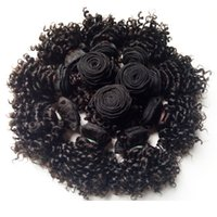 Wholesale Beautiful Queen Hair - Beautiful queen Brazilian virgin Hair Kiss sexy New short type Kinky Curly Black woman Indian remy Hair 50g pc 300g lot Double weft