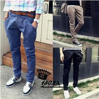 Wholesale Cheap Trouser Jeans - Wholesale-hot! Cheap Shipping wholesale Newly Style Zipper Men's cotton pants new design Straight Jeans trousers