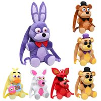 Wholesale Night Backpack - Plush bag 33cm   47CM Five Nights At Freddy's school bag FNAF Freddy Fazbear Bonnie Mangle foxy Nightmare Fredbear plush backpack kids toys