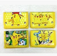 Wholesale One Shoulder Woven Bag - Fashion Cartoon Children purse bag Poke Pikachu Printed Kids Purse Bags Boys Girls wallet purses gift bags 7014