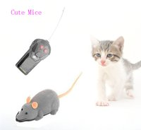 Wholesale Pet Rats - Free Shipping New Arrival Remote Control RC Wireless Grey Rat Mouse Mice Toy For Cat Dog Pet Gift