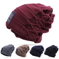 Wholesale Top Wholesale Christmas Hats - Newest Design!! Stylish Skullies Beanies Hat For Man Warm Winter Hat toucas gorros Top-Quailty Drop Shipping