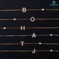 Wholesale Gold Plated Jewelry Supplies - the beautiful bracelets Letters zircon hand chain for women 925 silver, gold-plated jewelry stone assembly 18 for direct supply