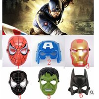 Masque de super-héros de Noël pour enfant adulte Avengers Marvel Spiderman Ironman capitaine Amérique Hulk batman parti masque