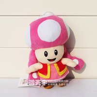 Wholesale Mario Toadette - Toadette plush toy super mario plush soft stuffed toy doll for kids toy doll Free shipping