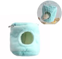 Wholesale novelty cloth - New Hamster Nest Pet Supplies Animal Cotton Hammock Bird Cage Hammock Hanging Cradle