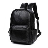 Wholesale Trendy Travel Backpacks - DANJUE Genuine Leather Men Backpack Large Capacity Man Travel Bags High Quality Trendy Business Bag For Man Leisure Laptop Bag