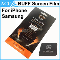 Wholesale Galaxy Buff - iphone 7 Plus BUFF Ultimate Crystal Clear Screen Protector For iPhone 5S 6 6S 7 Plus Galaxy S5 S6 S7 Note 7 5 4 Explosion-proof Film 1000pcs