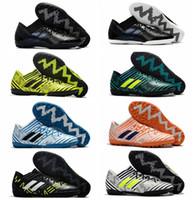 Wholesale Tango Media - 2018 mens soccer cleats purecontrol turf tango nemeziz 17 indoor soccer shoes cheap football boots men Nemeziz Tango 17.3 IC TF Original