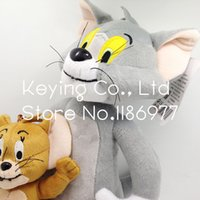 Wholesale Tom Cat Stuffed Animal - plush toys Tom Cat And Jerry Mouse Cute Anime Stuffed Animal Plush Toy Doll 2pcs Free Shipping Limited Collection Birthday Gift