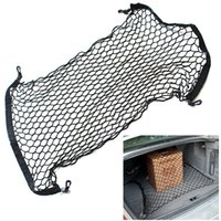 Wholesale 4 Hooks Car Trunk Cargo Net Universal Car Organizer Stowing Tidying Sticker Luggage Mesh Storage Bag Car Organizer for SUV BUS
