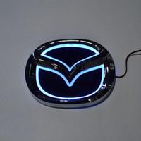 özel araba etiketi toptan satış-Araba tasarım Özel modifiye beyaz / Kırmızı / Mavi 5D Arka Rozet Amblem Logosu Işık Sticker Mazda 6 mazda2 mazda3 mazda8 mazda cx7
