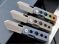 Wholesale Ball Bearing Keychain - high quality mini knife ROCKET S35VN 100% 61HRC ball bearing Titanium handle pocket knife keychain folding gift knife for man 1pcs