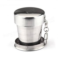 Wholesale Travel Plastic Cups Camping - Newest Stainless Steel Portable Outdoor Camping Travel Folding Cup Collapsible Telescopic Drinking Water Cup Hiking Mug Bottle