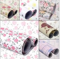 Wholesale Self Sticker - Self-adhesive PVC wallpaper printing Waterproof moisture-proof pad of paper drawer cabinet table sticker factory wholesale spot