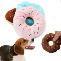 Pet Dog Puppy Cat Squeaker Charlatan Sound Toy Chew Donut Jouets Jouets Crème donut Lovely pets Son peluche