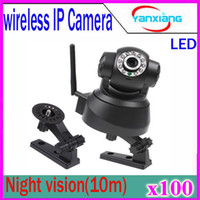 Wholesale Day Night Security Color Cctv - GT VIEW Wholesale New 100Pcs White Black Color Wireless IP Network Camera Pan Tilt Security WIFI CCTV Night Vision IR ZY-SX-01