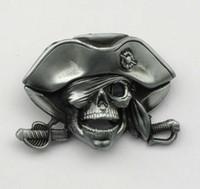 ingrosso cintura trasversale del cranio-Coltello Cross Pirates Fibbia per cintura Skull SW-BY730 adatto per 4 cm di larghezza con fibbia a scatto con calcio continuo