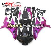 púrpura yamaha r1 al por mayor-Carenados de inyección completa para Yamaha YZF 1000 YZF R1 15 YZF-R1 2015 Plástico ABS Kit completo de carenado de motocicleta Púrpura Negro Kit de cuerpo de capuchones