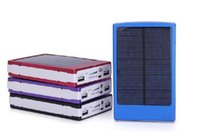 Wholesale High Quality Solar Charger - High quality 18650 Solar Battery Charger 30000mAh solar charger Portable Double USB Solar Energy Panel Power Bank For Mobile Phone PAD Table