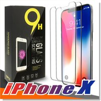 Wholesale Wholesale For Iphone Screen - For iPhone X 8 7 6 6S Tempered Glass Screen Protector for iPhone 6S Plus Samsung S6 S7 Note 5 screen clear film protection with 9H Hardness