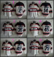 Wholesale Paul Hoodies - Chicago White Sox #2 Nellie Fox #14 paul konerko #35 frank thomas Cheap Baseball Hooded Stitched Old Time Hoodies Sweatshirt Jerseys
