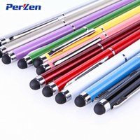 Wholesale Stylus For Galaxy S4 - High Quality 2 in 1 Capacitive Touch Screen Pen Stylus Pen for ipad iphone 5s Samsung Galaxy s4 s5 HTC Huawei Cellphone DHL Free Shipping