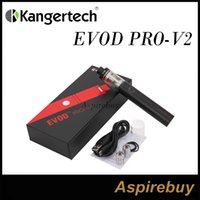 Wholesale Evod Battery Pro Tank - Kanger Evod Pro 2 V2 Starter Kit 2500mah Battery with 4ML Tank with 0.5ohm and 1.0ohm CLOCC Coils Airflow Adjustable Slots 100% Authentic