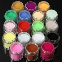 Wholesale Professional Uv Gel Manicure Kit - Professional 18 Colors Nail Art Powders Dust Acrylic UV Gel Polish Glitter Tips Kits Salon DIY Manicure Decoration Tools Sets