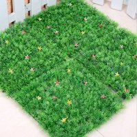 Wholesale Plastic Topiary - New arrival Artificial plastic boxwood mat topiary tree Grass Lawn for garden,home ,wedding decoration free shipping