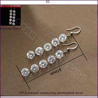Wholesale Si Rhinestone Jewelry - SI new Fashion jewelry Romantic Wedding Earrings for women Rhinestone 18K gold plated earrings Wholesale price