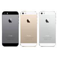 Wholesale I5s Smartphone - Original iPhone 5S i5S Fingerprit 4.0 inch Refurbished Smartphone Dual Core 1G RAM 16GB 32GB 64GB ROM Touch ID Mobile Phones