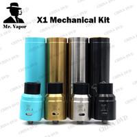 Wholesale Electronic Cigarette Rebuild - Vaporizer X1 Combo Kit Clone Vape Pro DIY Mechanical Mod Kit Single 18650 Battery with Dual Coil Rebuild RDA electronic cigarettes