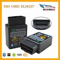 Wholesale Bluetooth Ecu - New Arrival HH OBD Mini ELM327 Bluetooth V2.1 HH OBD2 ELM 327 Auto ECU Code Reader Free Shipping