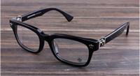 óculos de lente clara para mulheres venda por atacado-Novos óculos de armação de óculos de armação de óculos de cromo para homens mulheres miopia marca designer óculos de armação de lente clara com caso original 09