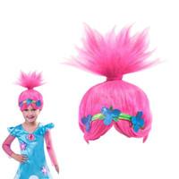 ingrosso kids wigs-ZF Princess Children Cosplay Parrucca per capelli parrucche Rosa per capelli 32CM Corto Carino Bella mostra asilo costume