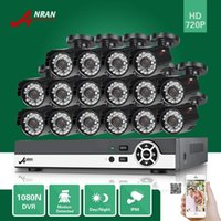 ANRAN P2P Plug and Play 16CH HDMI 1080N DVR 16pcs 720P ao ar livre 24 IR Dia Noite impermeável Home CCTV Security Camera Surveillance System