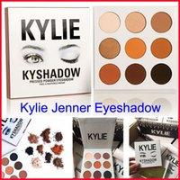 Wholesale Eyeshadow Palette Set Kit - In Stock Kyshadow kylie Jenner kit pressed powder eye shadow Kylie Cosmetics Waterproof Eyeshadow the Palette Bronze Matte 9 colors set