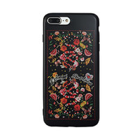 Wholesale High Fashion Iphone Cases - Fashion Flower Snake Tiger Pattern Soft IMD Back Cover Shockproof TPU Smooth Dirt-resistant High Quality For iPhone 7 6 6s Plus OPPBAG