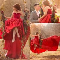 veludo de veludo vermelho venda por atacado-Lindo Vermelho De Veludo Querida Vestidos de Baile Disse Mhamad Vermelho Long Train Evening Vestidos Saudita Árabe Árabe Celebridade Formal Vestidos de Festa
