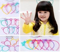 Wholesale Crown Hair Band For Girls - Kids Headbands Cat Ears Bunny Ears Crown bowknot 4 designs plastic with short combs Headband for girls children hair accessories hair band
