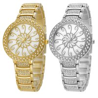 Wholesale Wholesale Gold Watches China - Fashion Women's Flower Designer Wristwatches Luxury Life Waterproof Stainless Steel Ladies Watches Analog Jewelry Buckle China Brand Belbi