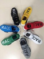 black fabric boots - 2017 Pharrell Williams X NMD Human Race Running Shoes NMD Runner NMD men and women Trainers Sneakers Boots Size onle for sale